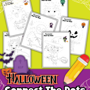 Halloween Connect The Dots Coloring Pages