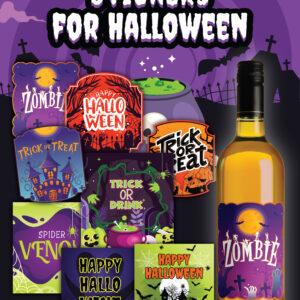 Halloween wine bottle printables